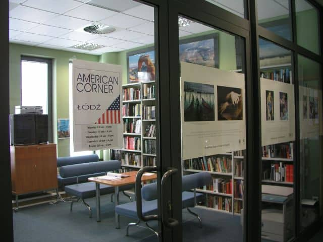 American corner library