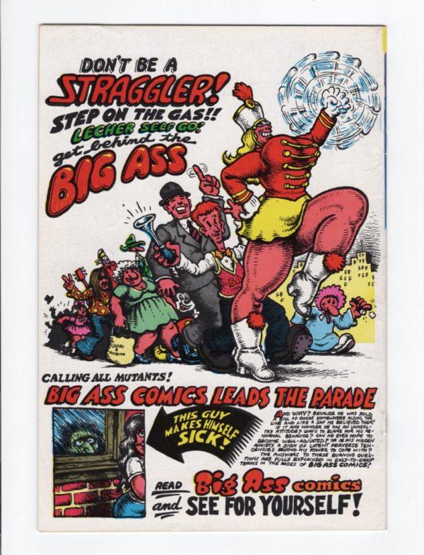 Big Ass Comics 1 (3rd Printing)—Back Cover