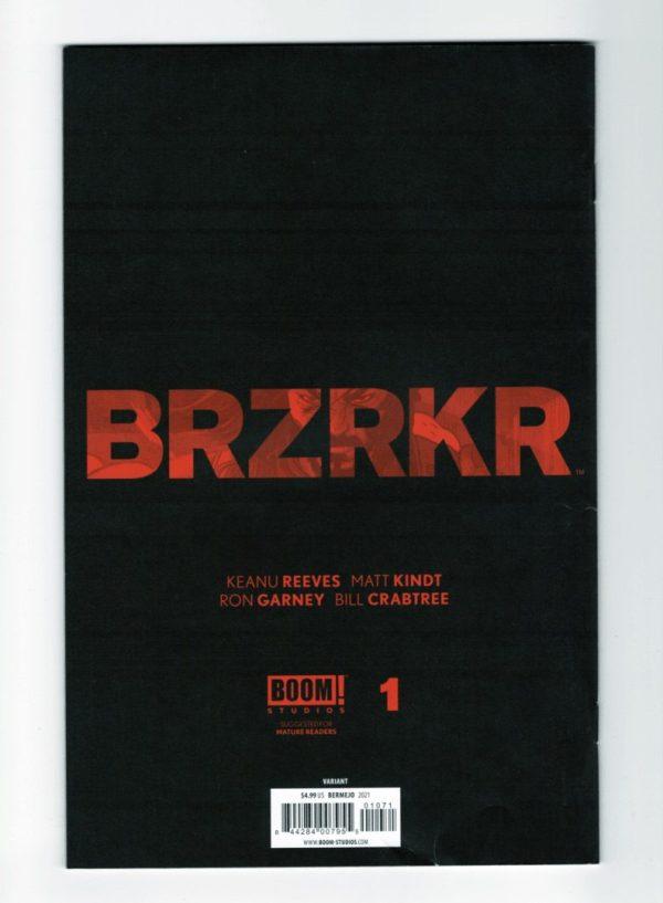 Brzrkr 1 (Cover G)—Back Cover