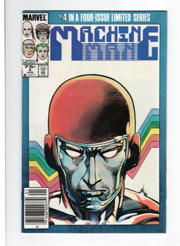 Machine Man 4—Front Cover
