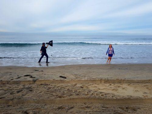 Photoshoot on Mission Beach San Diego, USA