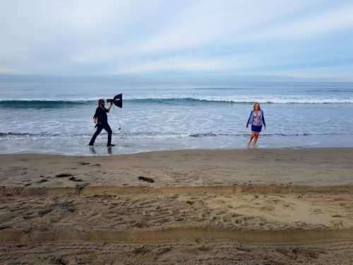 Photoshoot on Mission Beach San Diego, USA