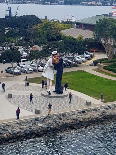 Unconditional Surrender Statue USS Midway, San Diego,