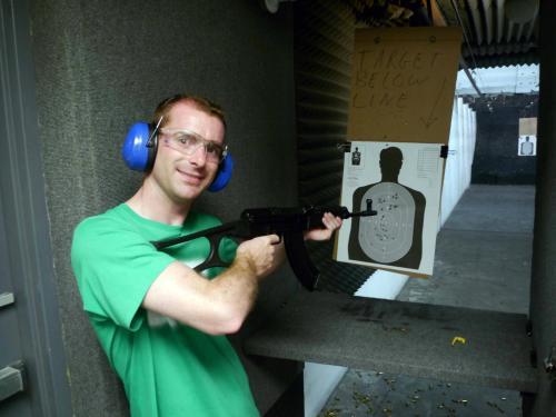 Shooting an AK-47
