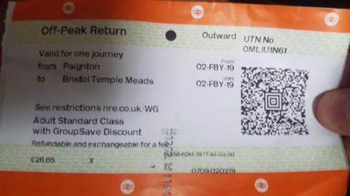 Paignton Train Ticket to Bristol Temple Meads