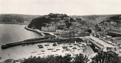 Torquay Harbour, looking across to Walden Hill circa 1880