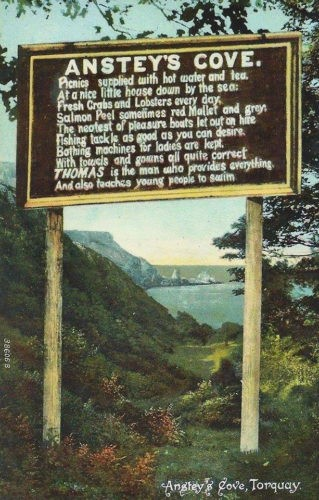 Old Ansteys Cove sign