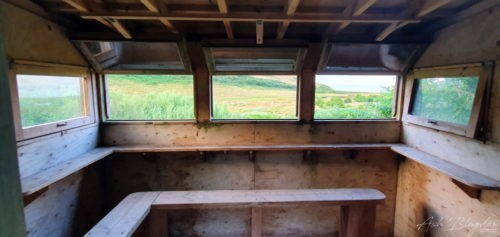 Inside the bird hide