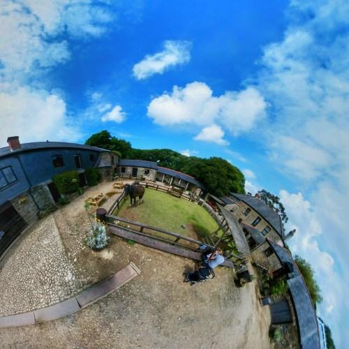 Healey's Cornish Cyder Farm, Newquay, Cornwall, UK, Tiny Planet