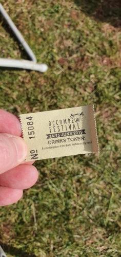 2019 Drinks Token Occombe Festival