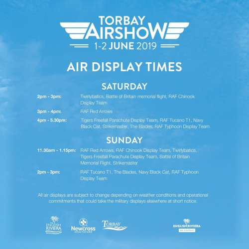 Torbay Airshow Display Times 2019 500x500 - Torbay Airshow in 360º