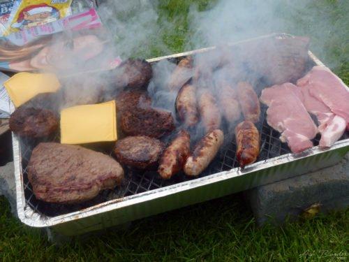 BBQ on blocks Trethiggey Holiday Park