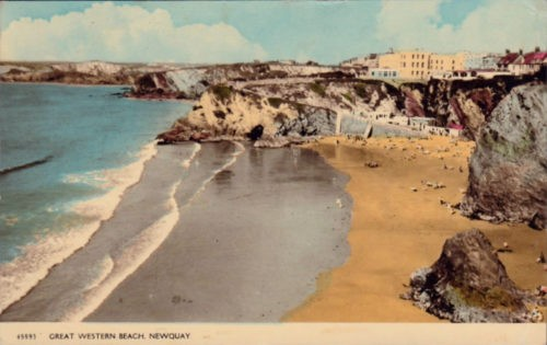 Great Western Beach Newquay Cornwall 1962 500x315 - Newquay in 360º