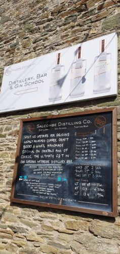 Gin list from Salcombe Gin