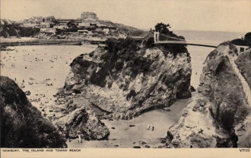The Island and Towan Beach, Newquay, Cornwall, History c.1950