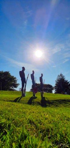 Silhouette of soldiers Memorial, Princetown Dartmoor Standard