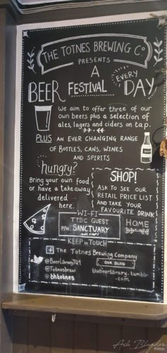 Beer Menu Totnes Brewing Co