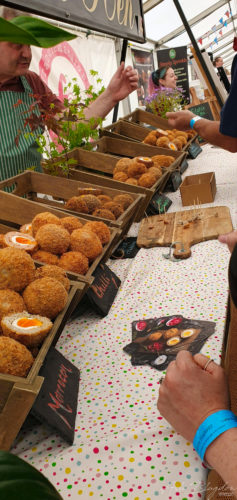 Scotch egg selection Exeter Food Festival 2019