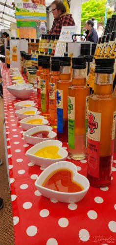 Chili source selection Exeter Food Festival 2019