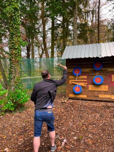 Axe Throwing at Skirmish Exeter, 2018