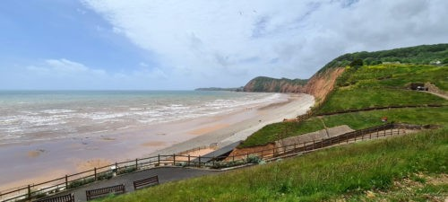 Jacobs Ladder Beach Sidmouth Devon 2020