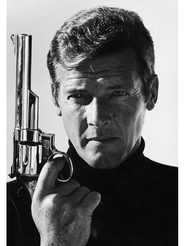 Co-signed photography of Roger Moore available from Ashcroft Art