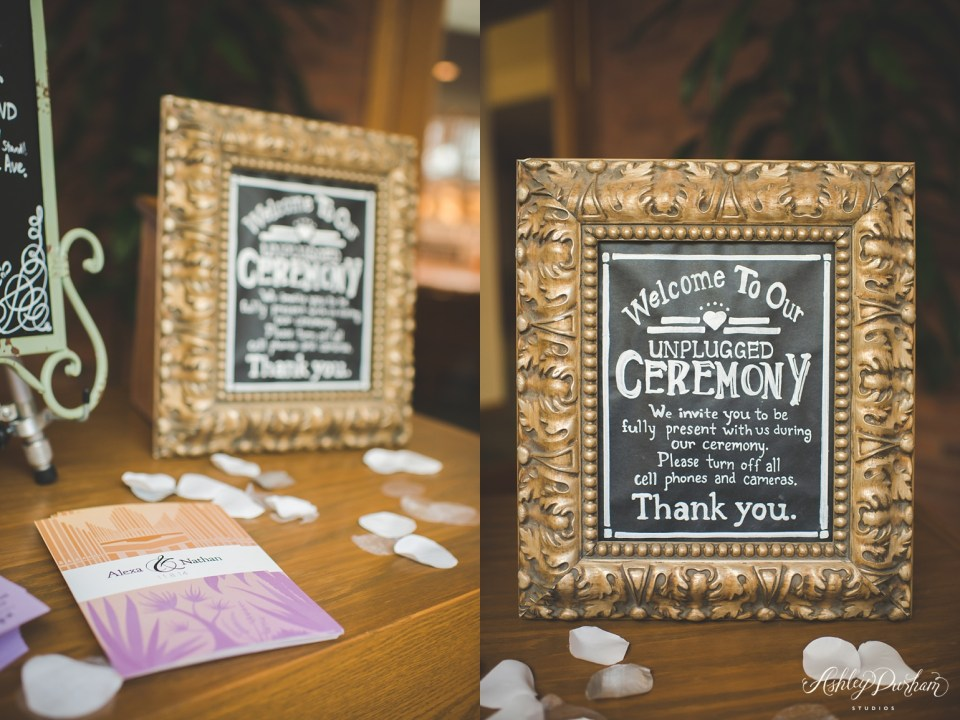 How to tell guests to turn their cell phones off during the ceremony