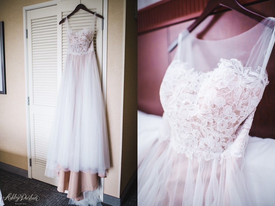 Green Mountain Ranch Wedding, lace dress with nude slip underneath