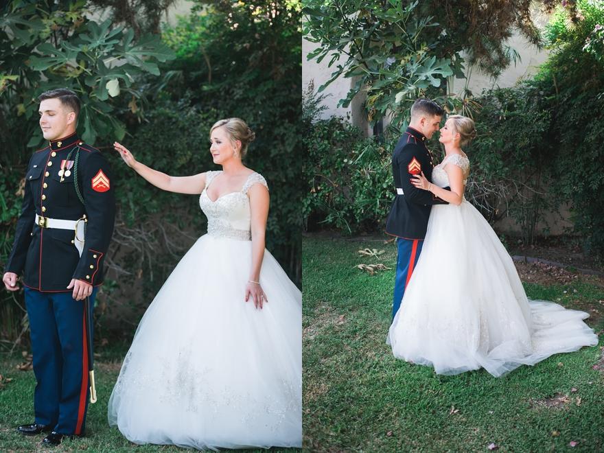 marine corps first look, usmc wedding