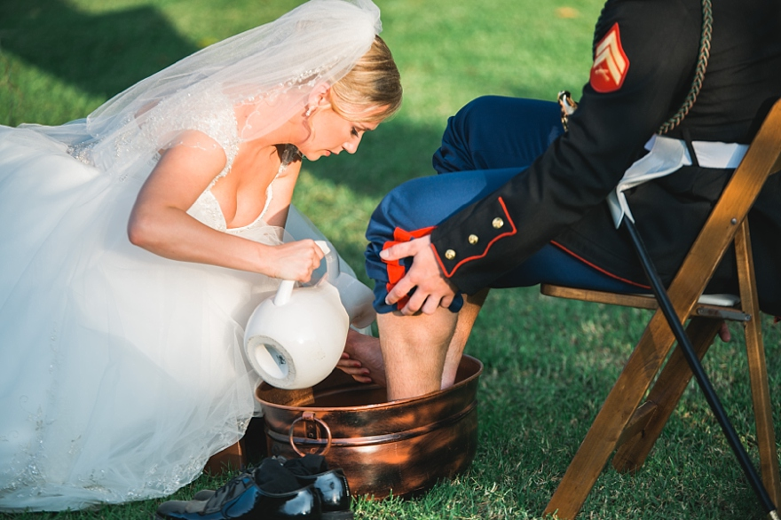 feet washing ceremony, christian ceremony ideas, christian traditions for weddings, foot washing at wedding