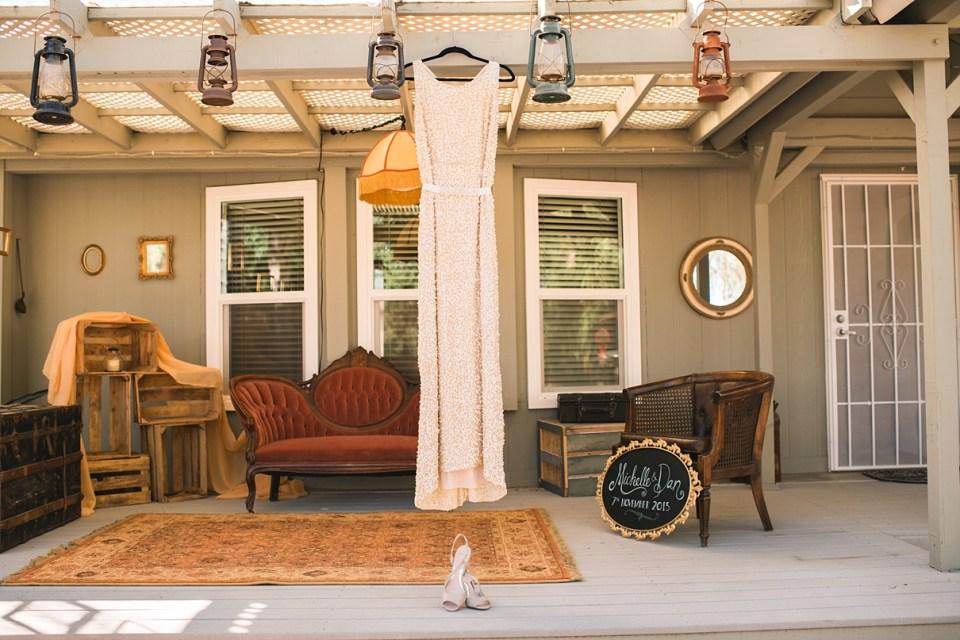 backyard wedding, gold sequin wedding dress, heirloom rentals, southern california backyard wedding, menifee wedding