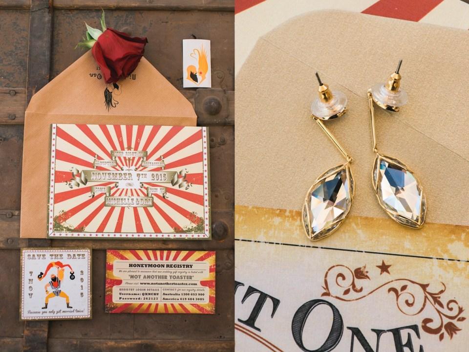 carnival wedding invitation, vintage wedding invitation, circus wedding, jaqi quinlan