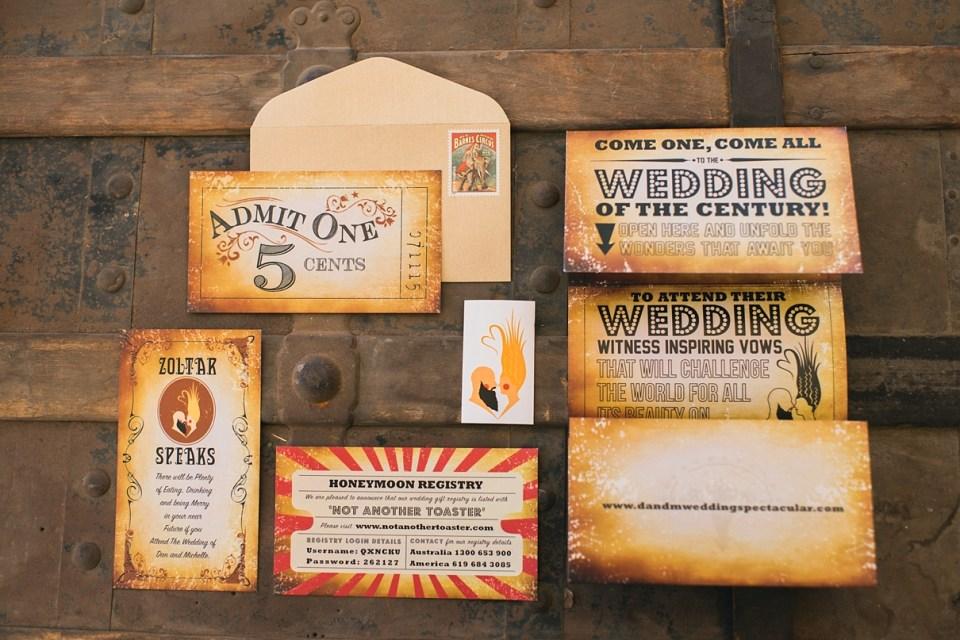 backyard vintage carnival wedding, carnival wedding invitation, vintage wedding invitation, circus wedding, jaqi quinlan