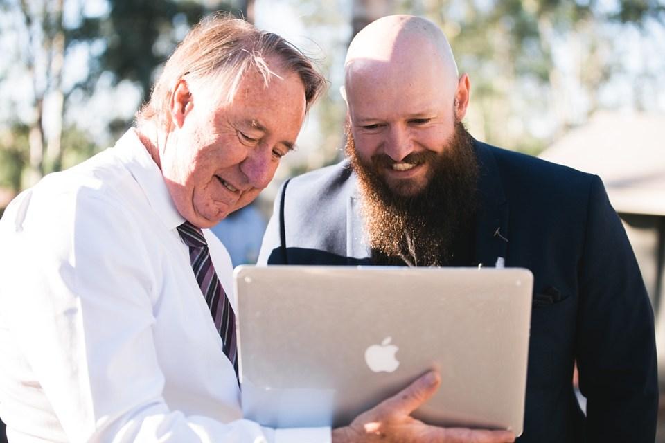 backyard wedding, skype for weddings