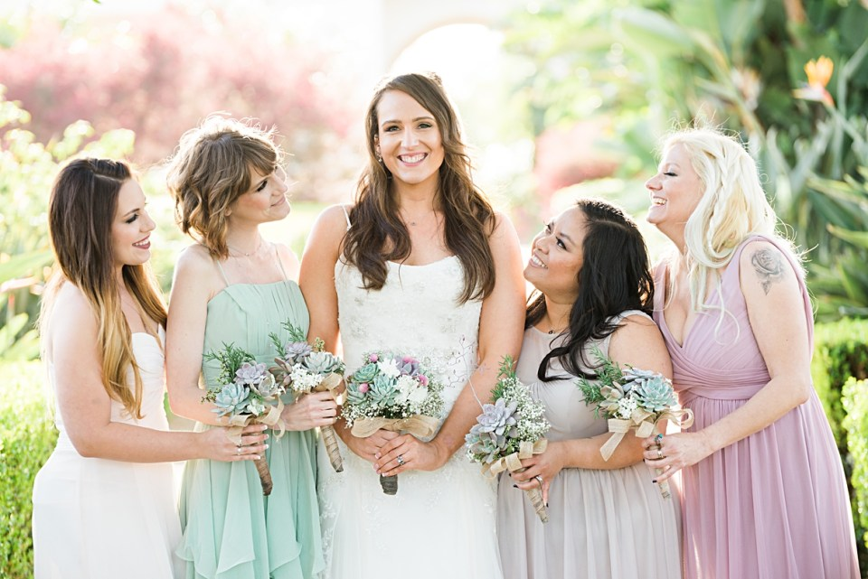 soft colored bridesmaids dresses that don't match