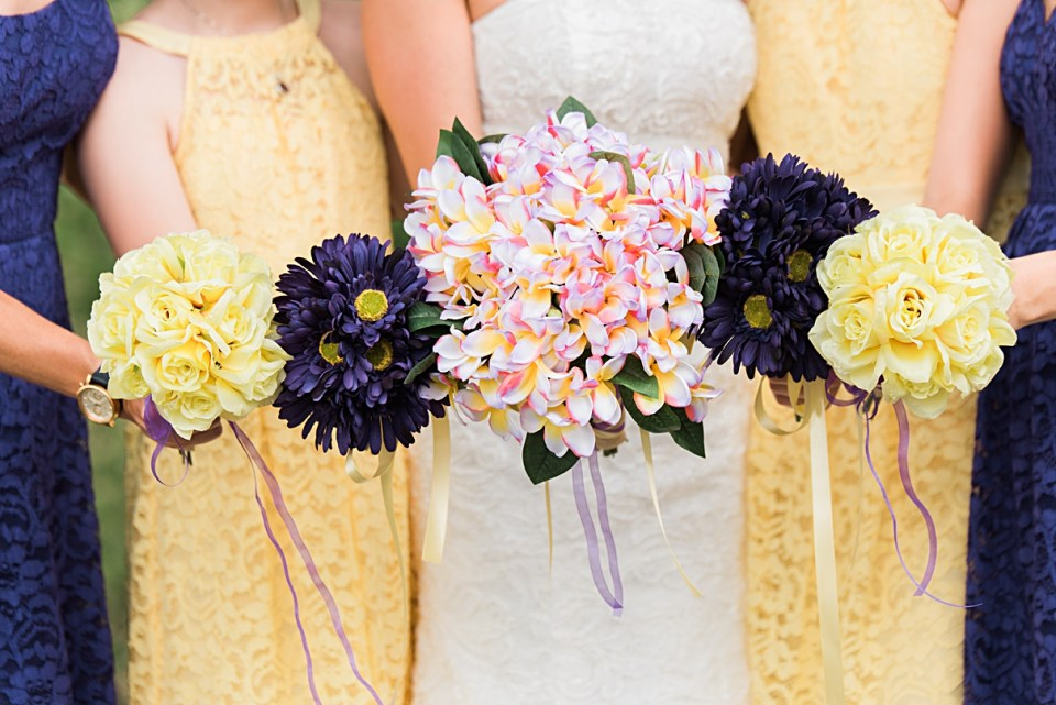 diy wedding bouquet, fake flower bouquets for weddings, purple and yellow wedding bouquet