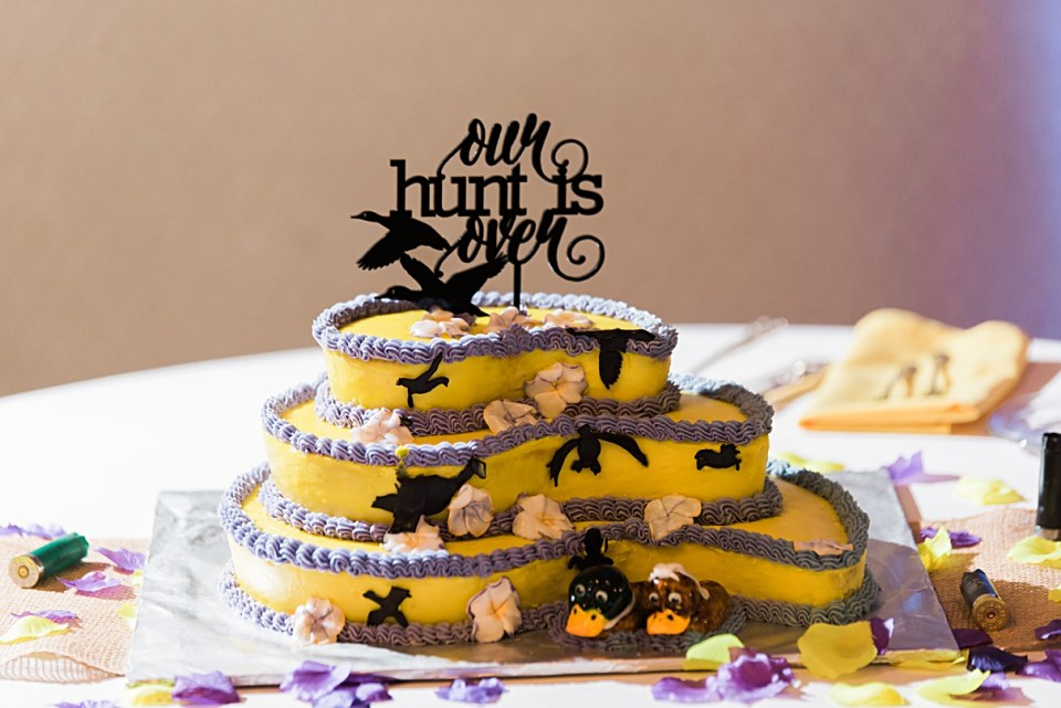 hunter wedding cakes, our hunt is over wedding cake topper, duck hunter wedding cake