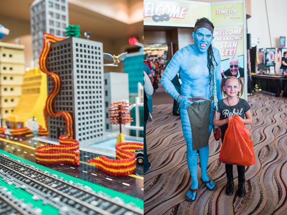 lego cosplay, comic con palm springs, jake from avatar cosplay