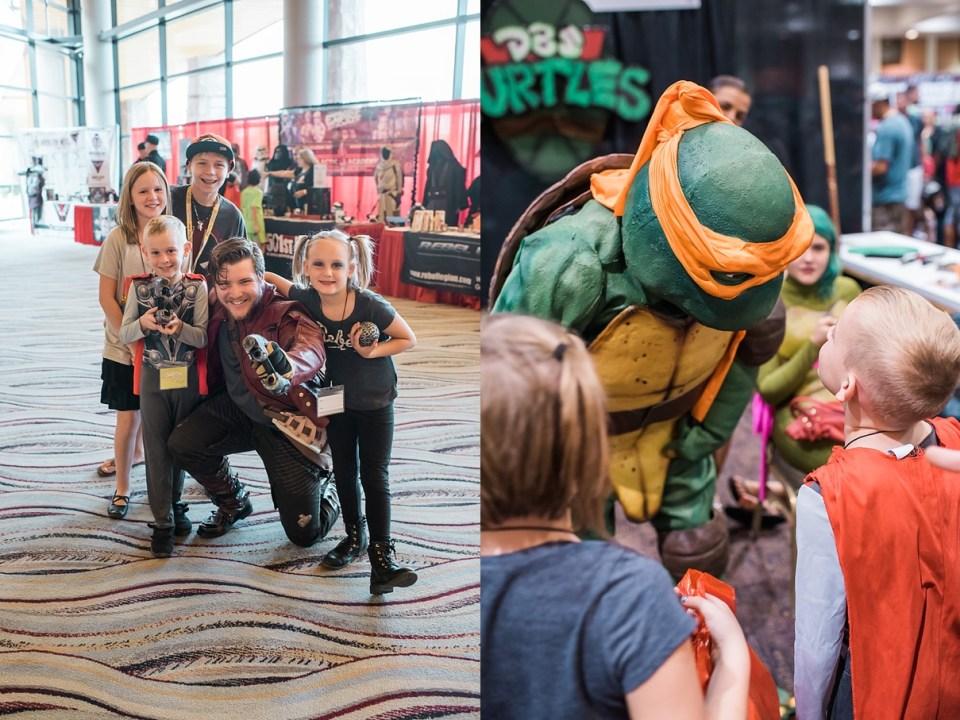 comic con palm springs, ninja turtles cosplay, star lord cosplay