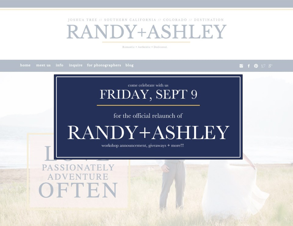 randy and ashley website, showiteer, showit5, showit5 site