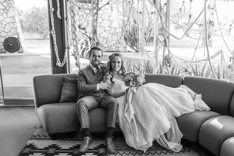 ace hotel lobby wedding photos