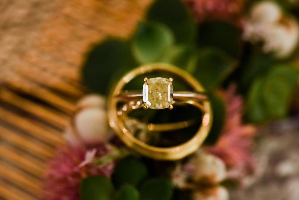 yellow gold and yellow diamond wedding rings