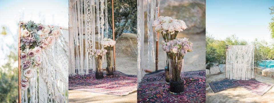 DIY wedding macrame decor