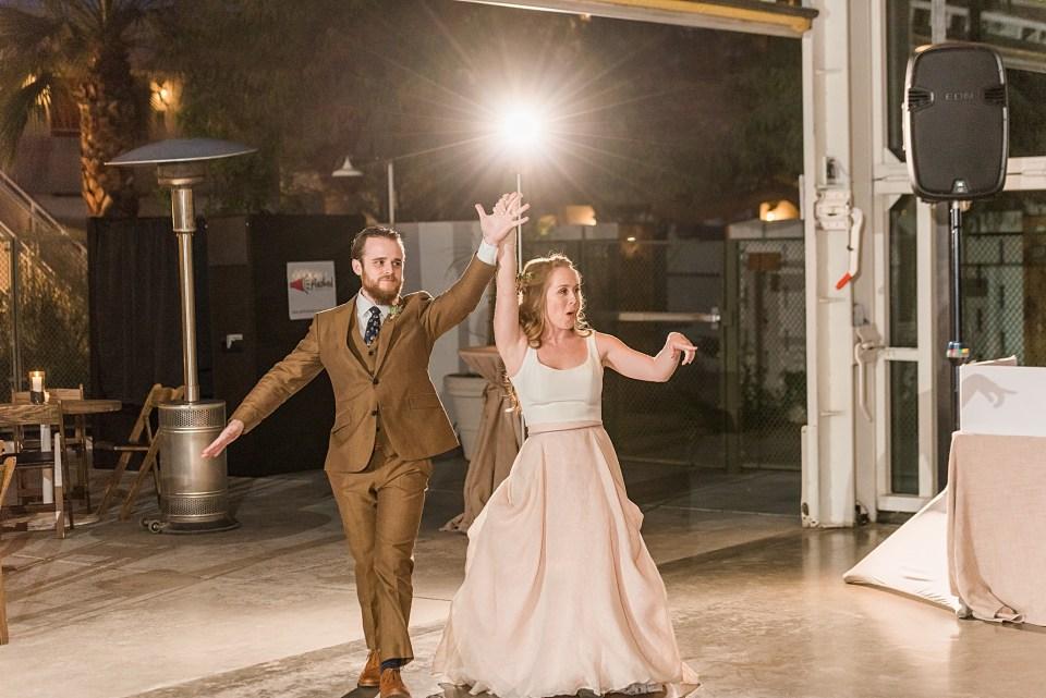 bride and groom OCF grand entrance photos