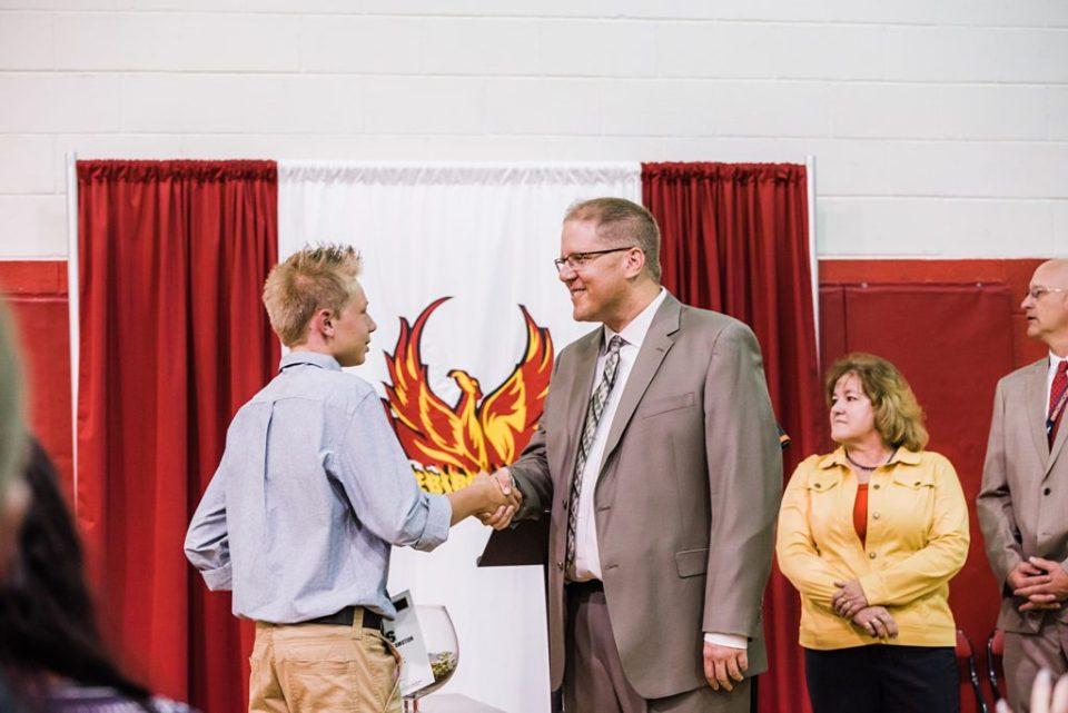 Falcon middle school graduation ceremony