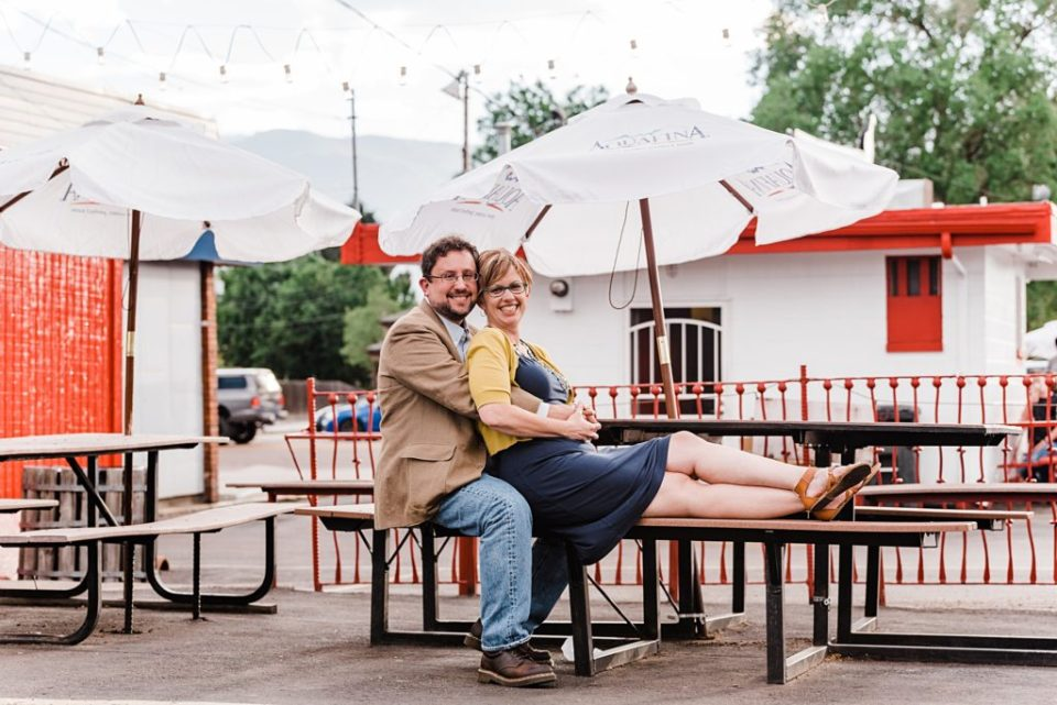 colorado springs engagement session at bj's velvet freez