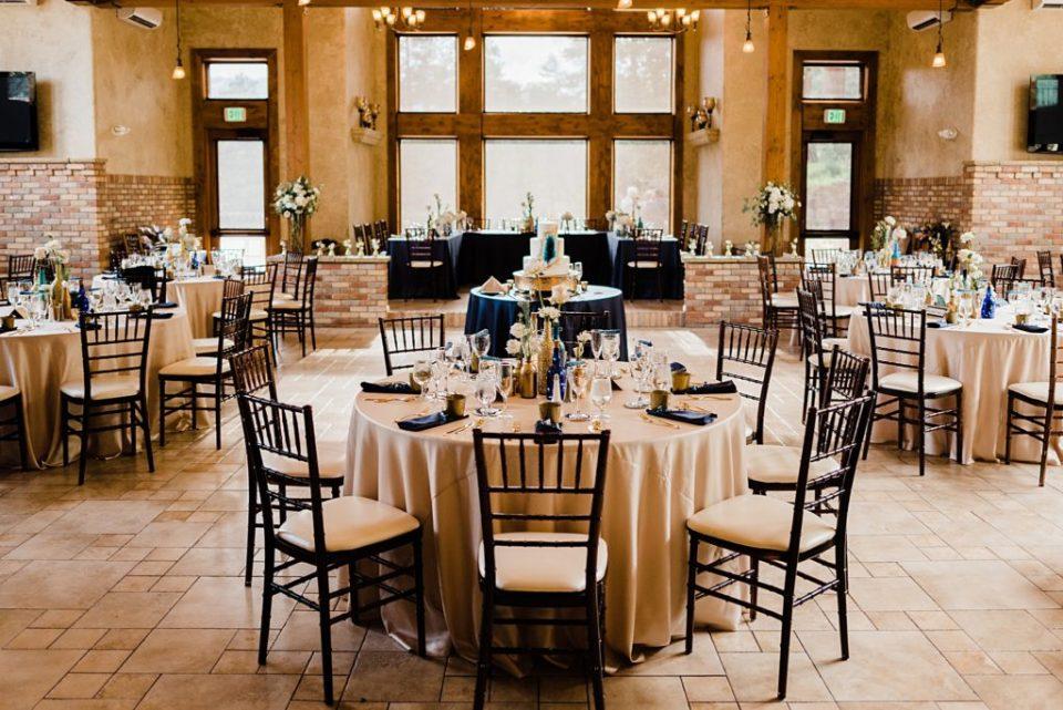 della terra wedding reception set up