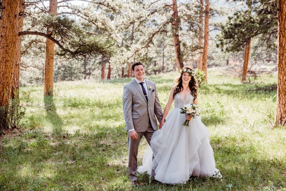 wedding portrait estes park colorado