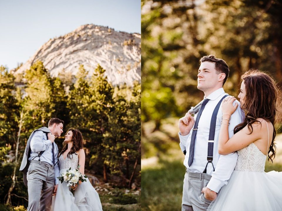 bride and groom portraits at della terra