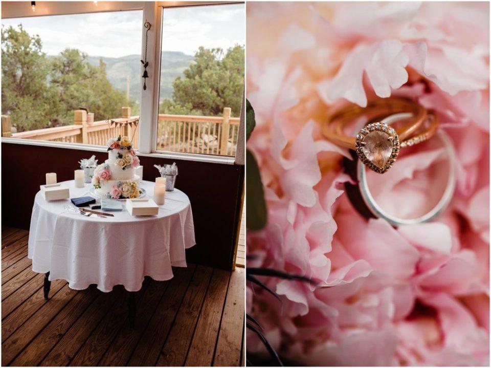 cabin wedding reception details